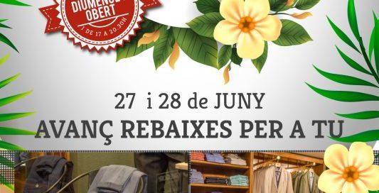 27 i 28 de juny avanç REBAIXES d'estiu per a tu