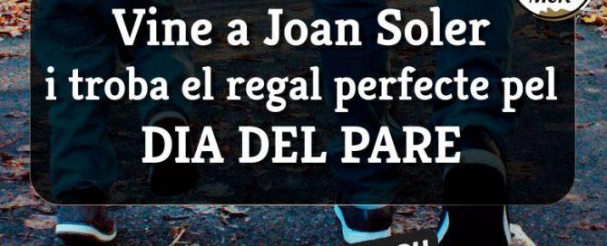 Vine a Joan Soler i tria al regal perfecte del Dia del Pare