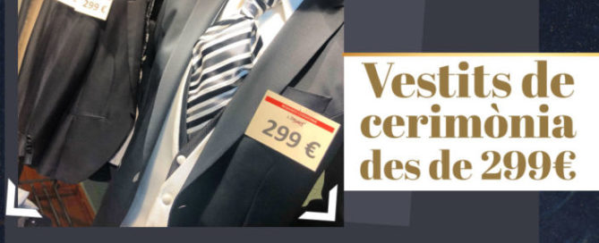 Aprofita l'oferta: vestits de cerimònia des de 299€ !